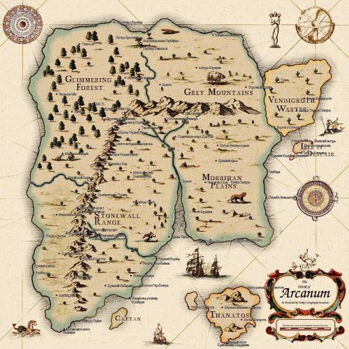 карта Arcanum