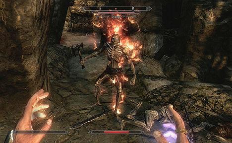 Draugr в огне