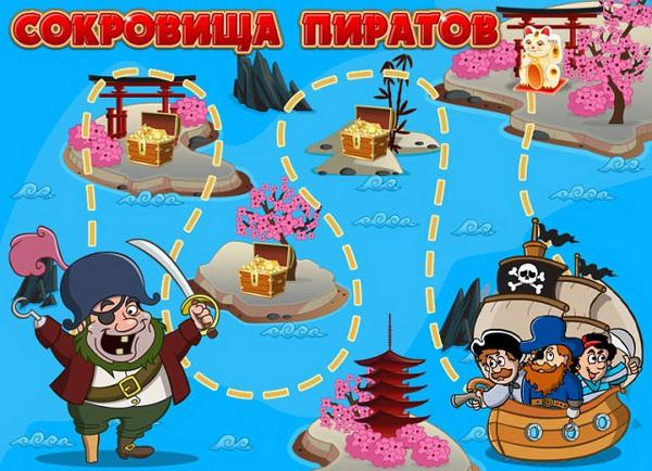 Сокровища пиратов  читы
