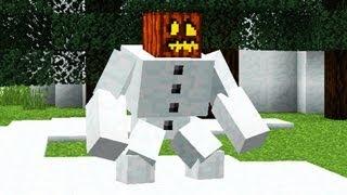 Minecraft  Mutant Creatures Снежный голем