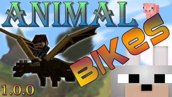 Обзор мода Minecraft - Animal Bikes