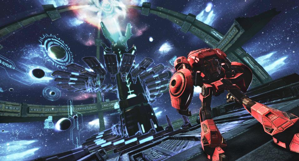 битва трансформеров в космосе